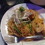 ピリ辛風な野菜と細麺