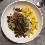 poisson selon arrivage, sauce vierge aux condiments huile d'olives de Nyons, pâtes fraîches al d