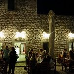 Outside view of the restaurant by night