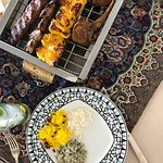 We had the mixed grill platter for two and the shirazi salad