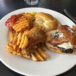 Bleu cheese burger, King Street Grille
