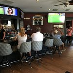 King Street Grille's sports bar screens