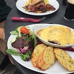 Tuna Steak and Lasagne