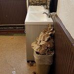 Garbage overflowing