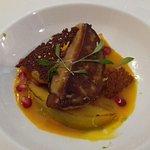 Foie gras poellé et mangues