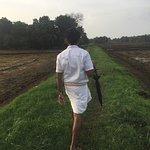 Walking with Thomas around the island