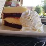 red velvet cheesecake..oh my