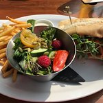 Bahn Mi with salad and fries