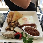 The big breakfast. Creton and home made beans .