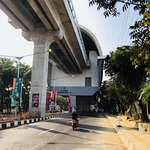 Stasiun LRT Bumi Sriwijaya is about 10 mins walk to Aryaduta Hotel and cost IDR5,000.