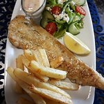 Fish, Chips and salad