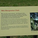 Mrs Macquarie`s chair sign