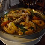 The seafood cataplana, with loads of huge crab claws, langoustine, prawns, all sorts