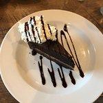 Chocolate cake with ganache.