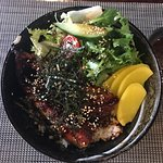 Sashimi  platter reasonable £16.50 - quality was excellent .Unagidon  and chicken katsu also v g