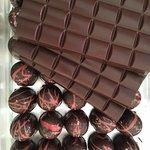 Our rich dark Haitian chocolate is great as a bar or truffle.