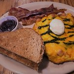 Frittata with a side of bacon