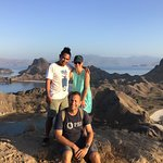 Early morning hike up Padar island with Lukas
