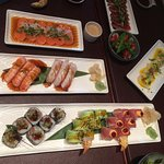 Big selection of Sushi, Sashimi etc