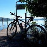 Lake Varese bicycle trail Foto