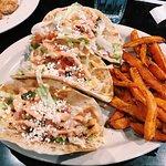 Shrimp Tacos With Sweet Potato Fries