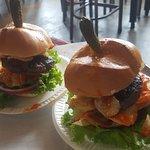 Buffalo blue burgers