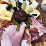 French and Scottish cheeses and charcuterie