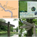 The Cromford Canal, Derbyshire, near its starting point at Cromford Wharf.