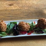 Haddock fishcakes (great crispy crumb coating!)