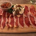 Spaanse ham,mozzarella, tomaat