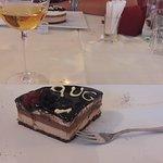 """Dolce """"tre cioccolati"""" con passito """"Cristina"""" della cantina Rosen di Vald'Adige (Trentino)"""