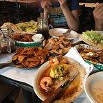 Blue Cheese Coleslaw, Buffalo Wings, Homemade Potato Chips, Pork Rinds, Garlic Shrimp, Loaded Fr
