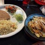 Chicken fajita entree ($12.25) -- Wife liked it.