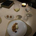5th course, dessert with dessert wine