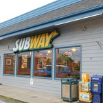 Subway, 340 W. Evergreen Ave, just East of the Glenn Hwy, Palmer, Alaska.