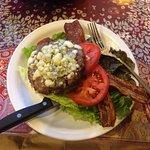 Bacon and Bleu Cheese Hamburger!