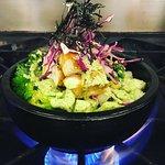 Hot Stone Pot Rice Bowl (Tofu & Cilantro Lime Sauce)
