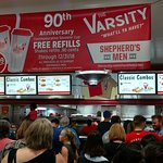 The starting gate at the Varsity....about 20 serving lines.