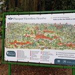 Mapa turístico do Parque Vicentina Aranha.