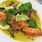 Salmon Salad. Should be a seasonal dish.