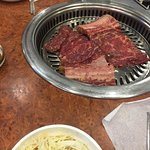 Galbi brought out raw