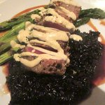 Seared Ahi, Asparagus, Black Rice, Island Prime Restaurant, San Diego,, CA