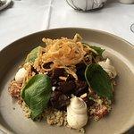 Aurbergine and quinoa