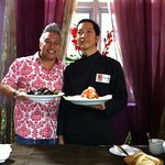 Chef Wan with chef Tien at Sao Nam