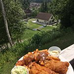 Fish and chips - one of the great menu options at the Fallsview Restaurant.