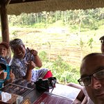 Lunch overlooking the rice terraces
