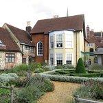 Southampton Tudor House - view across garden to Museum