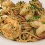 Spaghetti with shrimps 🍤 😍😋😋🤩