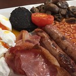 The Full Cooked Breakfast with Poached Eggs