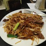 Beef with noodles and veg